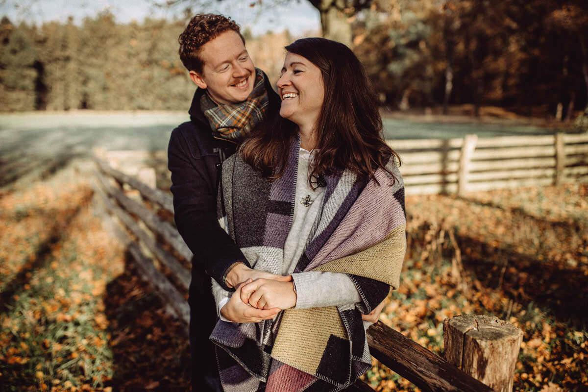 Paarshooting im Herbst Paarfotograf Vechta