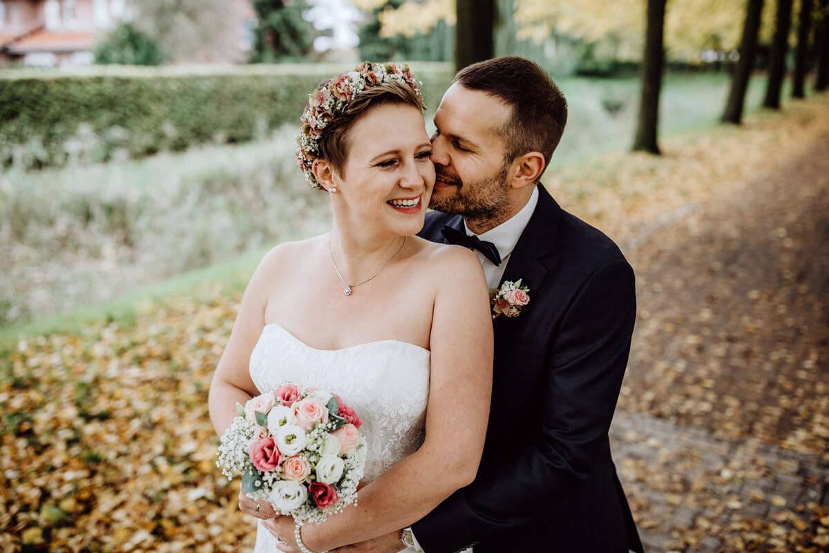 Hochzeitsfotos im Herbst in Vechta Hochzeitsfotograf Lichtbildlars Vechta